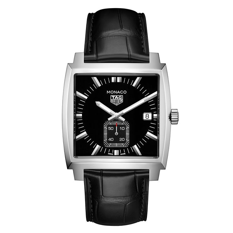 TAG Heuer Monaco Unisex Stainless Steel Black Strap Watch - Product number 6956130