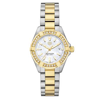 TAG Heuer Aquaracer Ladies' Two Colour Diamond Watch - Product number 6956262
