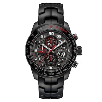TAG Heuer Carrera Men's Ion Plated Black Bracelet Watch - Product number 6956327