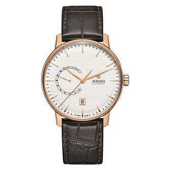 Rado Men's C Class Rose Gold Plated Leather Strap Watch - Product number 6956718