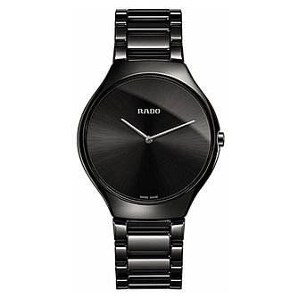 Rado True Thinline Men's Black Ceramic Bracelet Watch - Product number 6956769