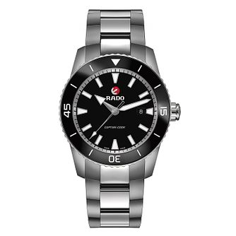 Rado Captain Cook Men's Stainless Steel Black Watch - Product number 6956823