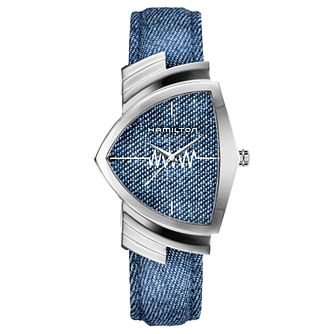 Hamilton Ventura Men's Stainless Steel Blue Strap Watch - Product number 6956890