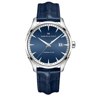 Hamilton Jazzmaster Men's Blue Stainless Steel Strap Watch - Product number 6956920