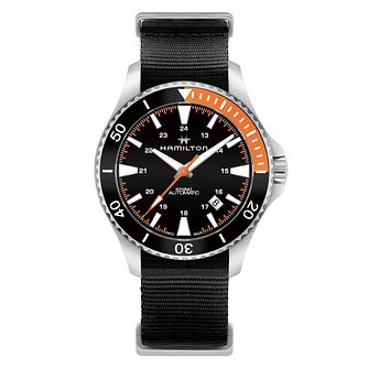 Hamilton Khaki Scuba Auto Men's Black Strap Watch - Product number 6957048