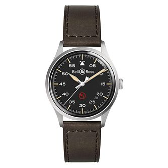 Bell and Ross BRV192 Stainless Steel Black Round Strap Watch - Product number 6957145