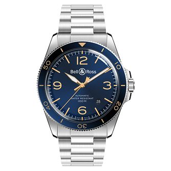 Bell & Ross Aero Men's Stainless Steel Blue Bracelet Watch - Product number 6957161