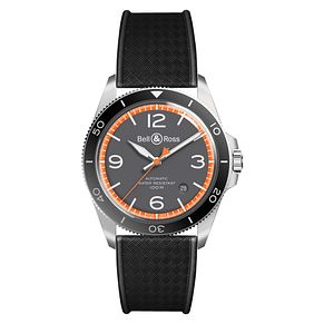 Bell & Ross BRV2 Men's Stainless Steel Black Strap Watch - Product number 6957188