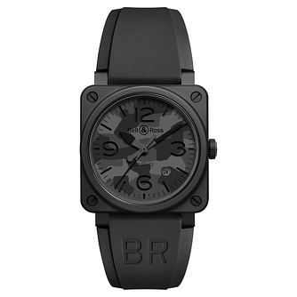 Bell & Ross BR392 Men's Stainless Steel Black Strap Watch - Product number 6957242