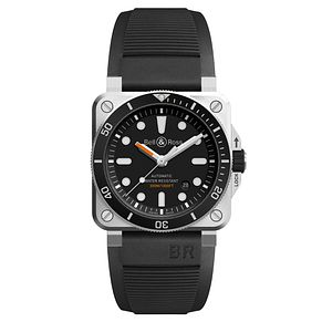 Bell & Ross BR392 Men's Stainless Steel Black Strap Watch - Product number 6957250