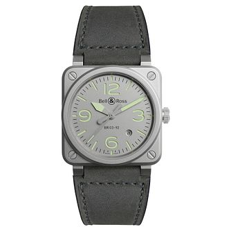 Bell & Ross BR392 Men's Grey Stainless Steel Strap Watch - Product number 6957269