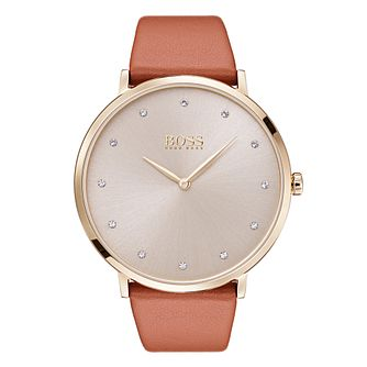 Hugo Boss Jillian Ladies' Gold Plated Stone Set Watch - Product number 6957315