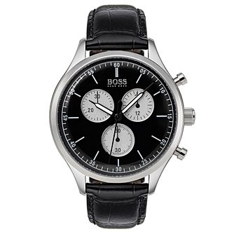Hugo Boss Companion Men's Stainless Steel Black Strap Watch - Product number 6957455