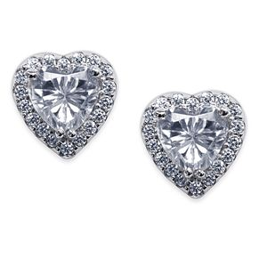Carat Cora Sterling Silver Heart Studs - Product number 6957587