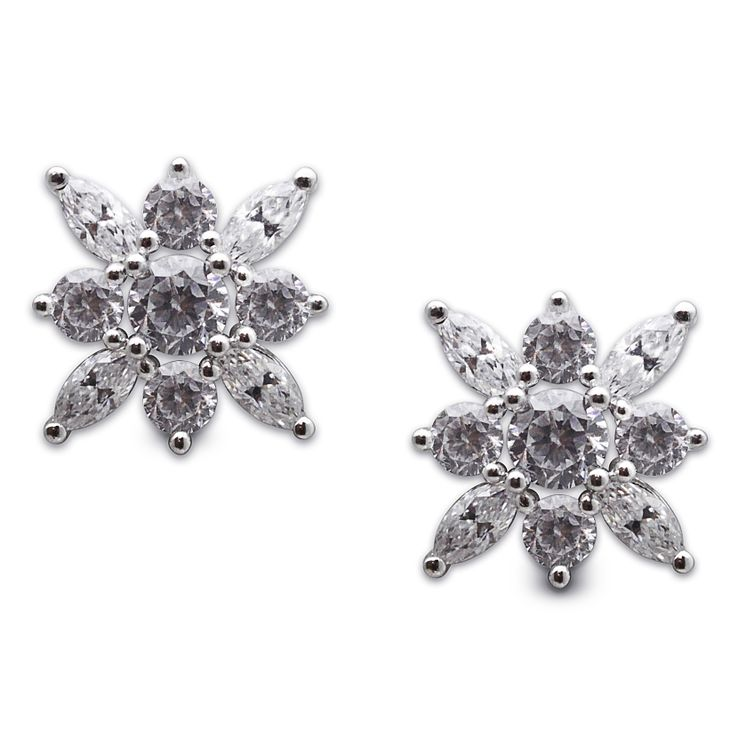 Carat Camelia Silver Stud Earrings - Product number 6957617