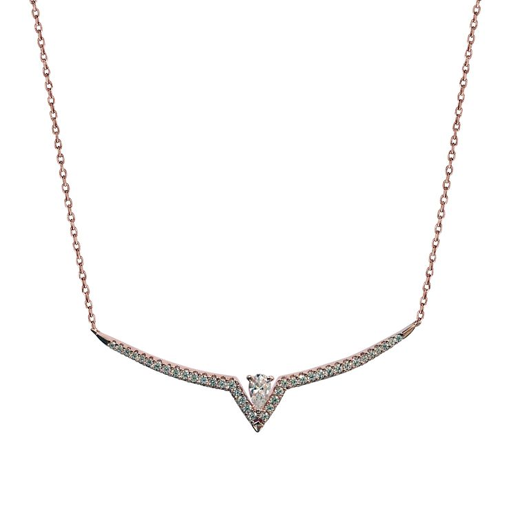 Carat Victoria Rose Gold Tone Necklace - Product number 6957684