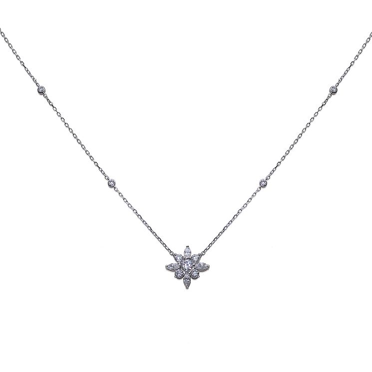 Carat Camelia Sterling Silver Necklace - Product number 6957692