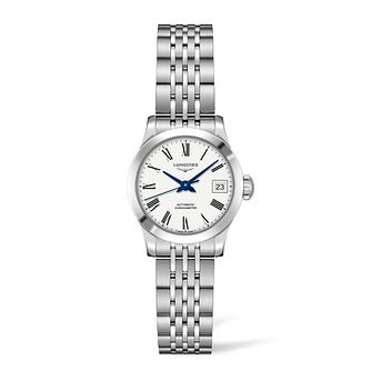 Longines Record Ladies' White Stainless Steel Bracelet Watch - Product number 6959148