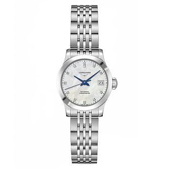 Longines Record Ladies' Diamond Mother of Pearl Watch - Product number 6959156