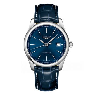 Longines Master Collection Men's Blue Leather Strap Watch - Product number 6959199