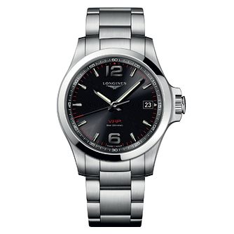 Longines Conquest Men's Stainless Steel Black Bracelet Watch - Product number 6959288