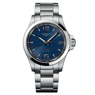 Longines Conquest Men's Stainless Steel Blue Bracelet Watch - Product number 6959296