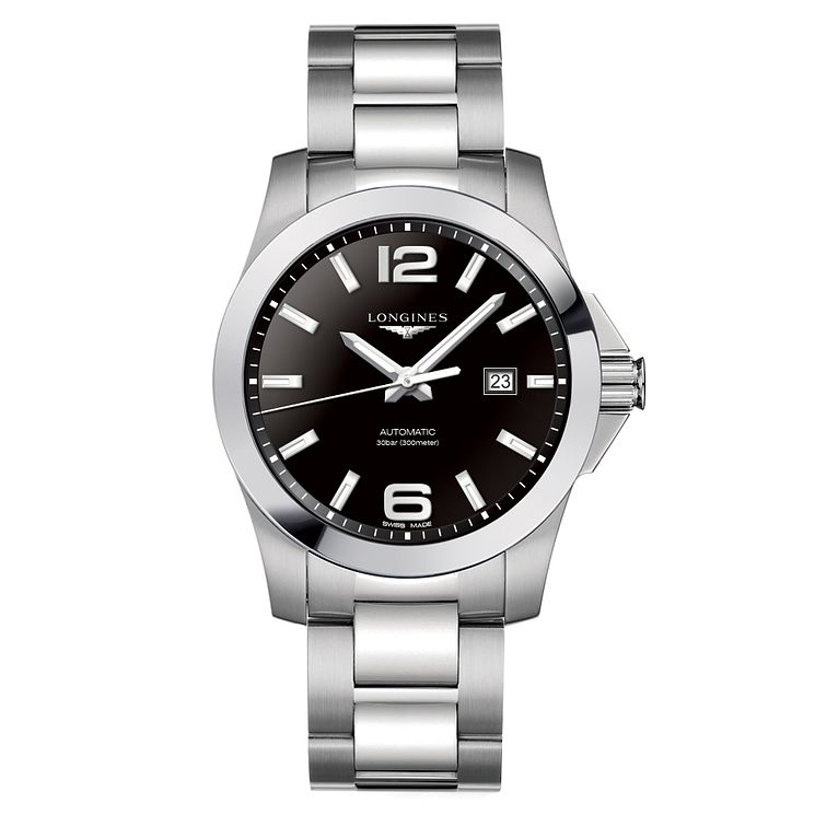Longines Conquest Men's 43mm Black Dial Bracelet Watch - Product number 6959350