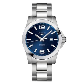 Longines Conquest Men's Blue Dial Bracelet Watch - Product number 6959369