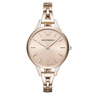 Emporio Armani Ladies' Rose Gold Tone Bracelet Watch - Product number 6988245
