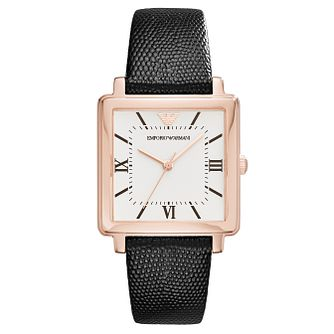 Emporio Armani Mod Square Ladies' Rose Gold Tone Strap Watch - Product number 6988288