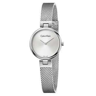 Calvin Klein Ladies' Stainless Steel Mesh Bracelet Watch - Product number 8000115