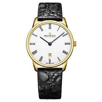 Dreyfuss & Co 1980 Men's Yellow Gold Plated Strap Watch - Product number 8008590