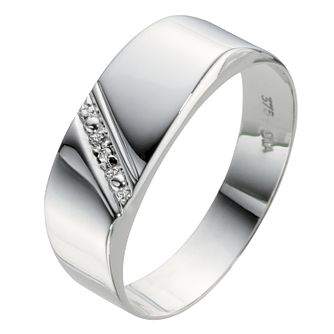 9ct White Gold Diamond Set Ring - Product number 8013128