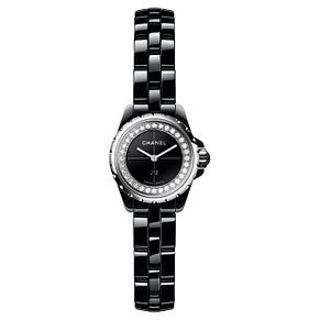 Chanel Ladies' J12XS Black Ceramic Diamond Bracelet Watch - Product number 8020418