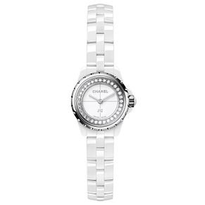 Chanel Ladies' J12XS White Ceramic Diamond Bracelet Watch - Product number 8020426
