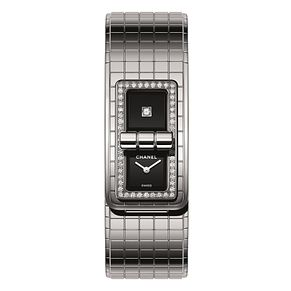 Chanel Code Coco Ladies' Steel Diamond Set Bracelet Watch - Product number 8020507