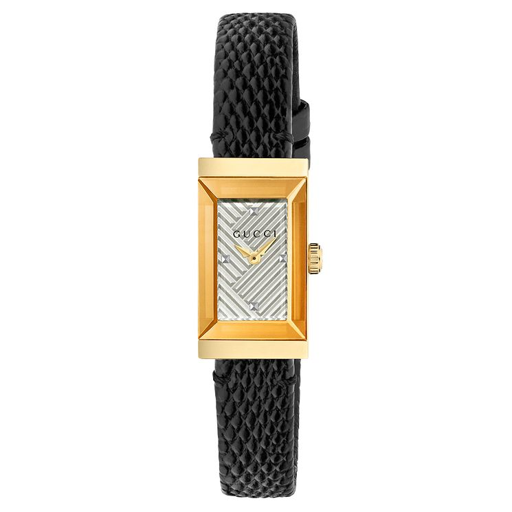Gucci G Frame Ladies' Gold Plated Strap Watch - Product number 8021309