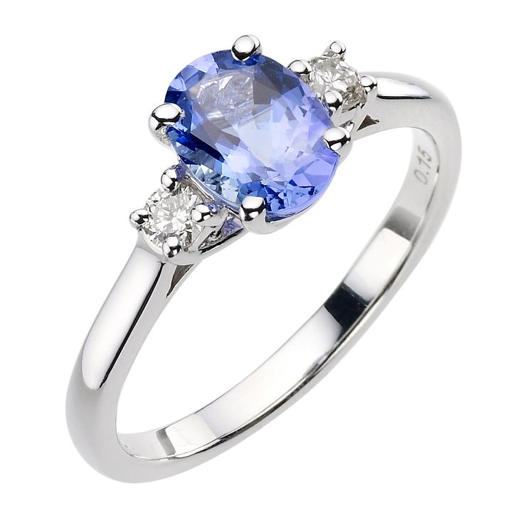 halo gold products ring diamond white rings engagement trillion kaplan tanzanite and arthur pear cushion