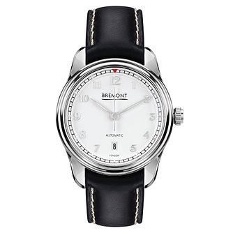 Bremont Airco Mach 2 Men's Stainless Steel Black Strap Watch - Product number 8029075