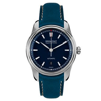 Bremont Airco Mach 3 Men's Blue Leather Strap Watch - Product number 8029148