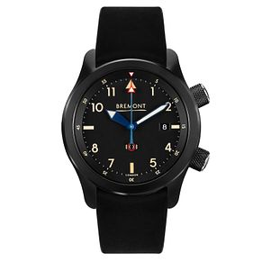 Bremont U-2 Men's Black Leather Strap Watch - Product number 8029156