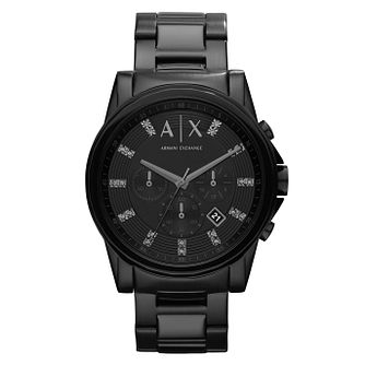 Armani Exchange Outerbanks Men's Black Steel Bracelet Watch - Product number 8029180