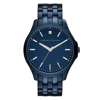 Armani Exchange Hampton Men's Blue Steel Bracelet Watch - Product number 8029598