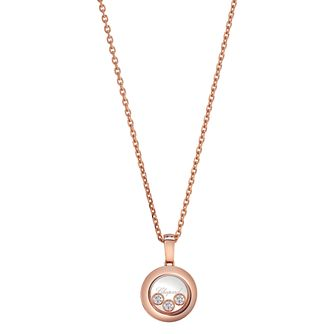 Chopard Happy Diamonds 18ct Rose Gold Pendant - Product number 8031274