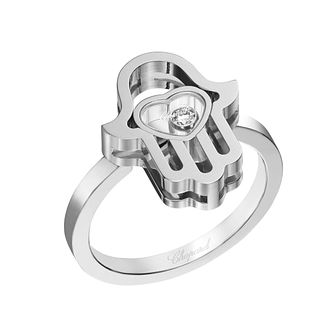 Chopard Happy Diamonds Icons 18ct White Gold Hand Ring - Product number 8031509