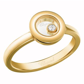 Chopard Happy Diamonds 18ct Yellow Gold Diamond Ring - Product number 8031517
