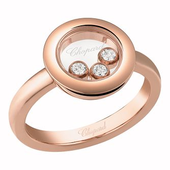 Chopard Happy Diamonds Ladies' 18ct Rose Gold Diamond ring - Product number 8031541