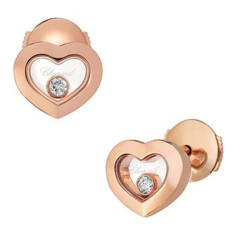 Chopard Happy Diamonds 18ct Rose Gold Stud Earrings - Product number 8031614