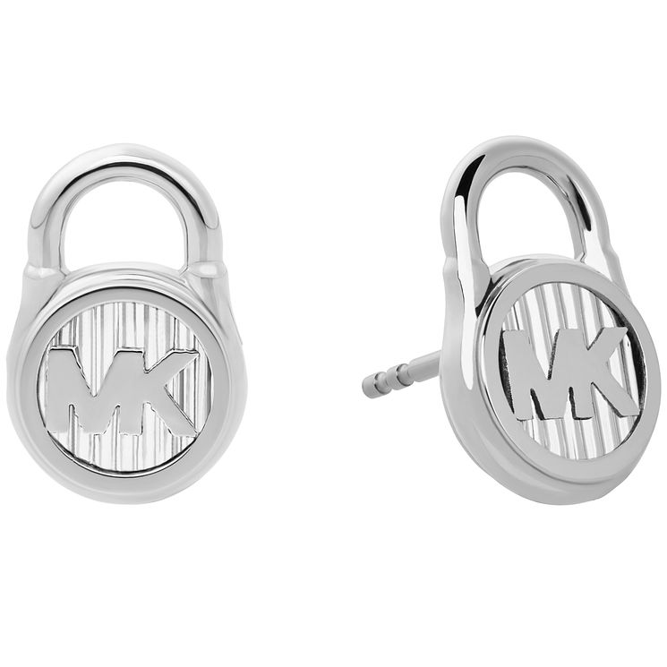 Michael Kors Hamilton Stainless Steel Logo Stud Earrings - Product number 8031851