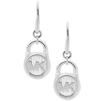 Michael Kors Hamilton Stainless Steel Logo Drop Earrings - Product number 8031886